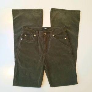 74AMK Vintage Velvet Green Flared Pants Size 31